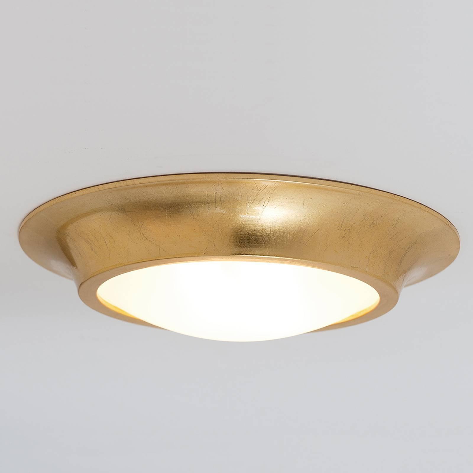 Gyllen keramikktaklampe Spettacolo