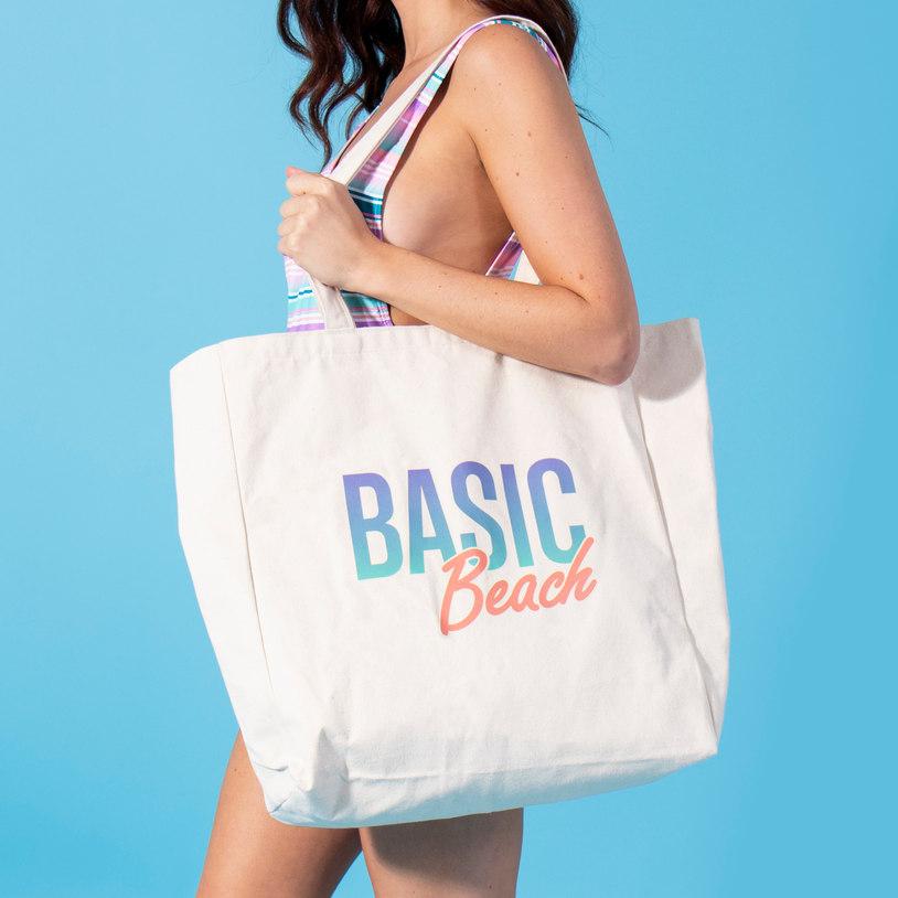 Basic Beach Large Tote Bag (21292)
