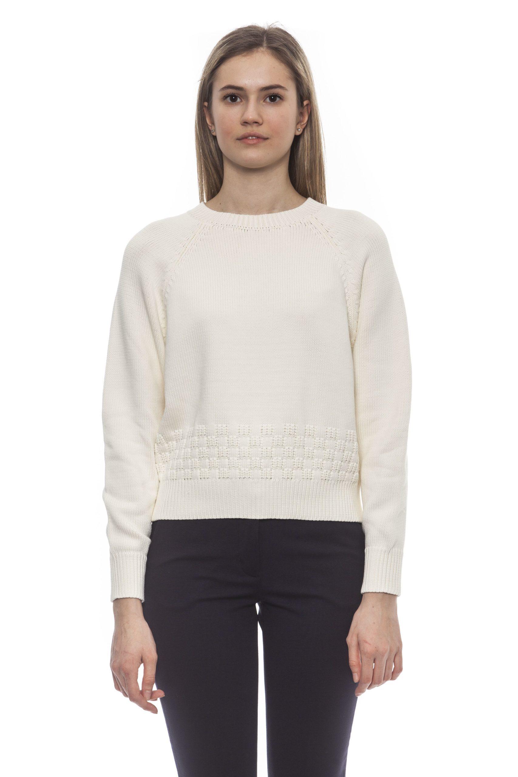Peserico Women's Bianco Sweater White PE1383073 - IT42 | S