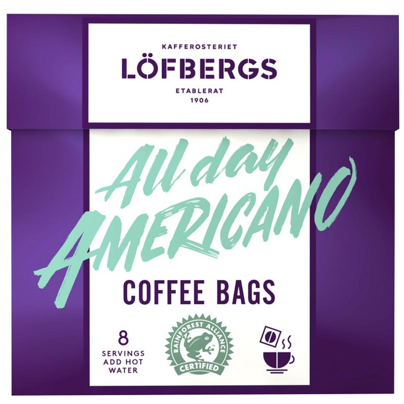 """Snabbkaffe """"All Day Americano"""" 8 x 8g - 36% rabatt"""
