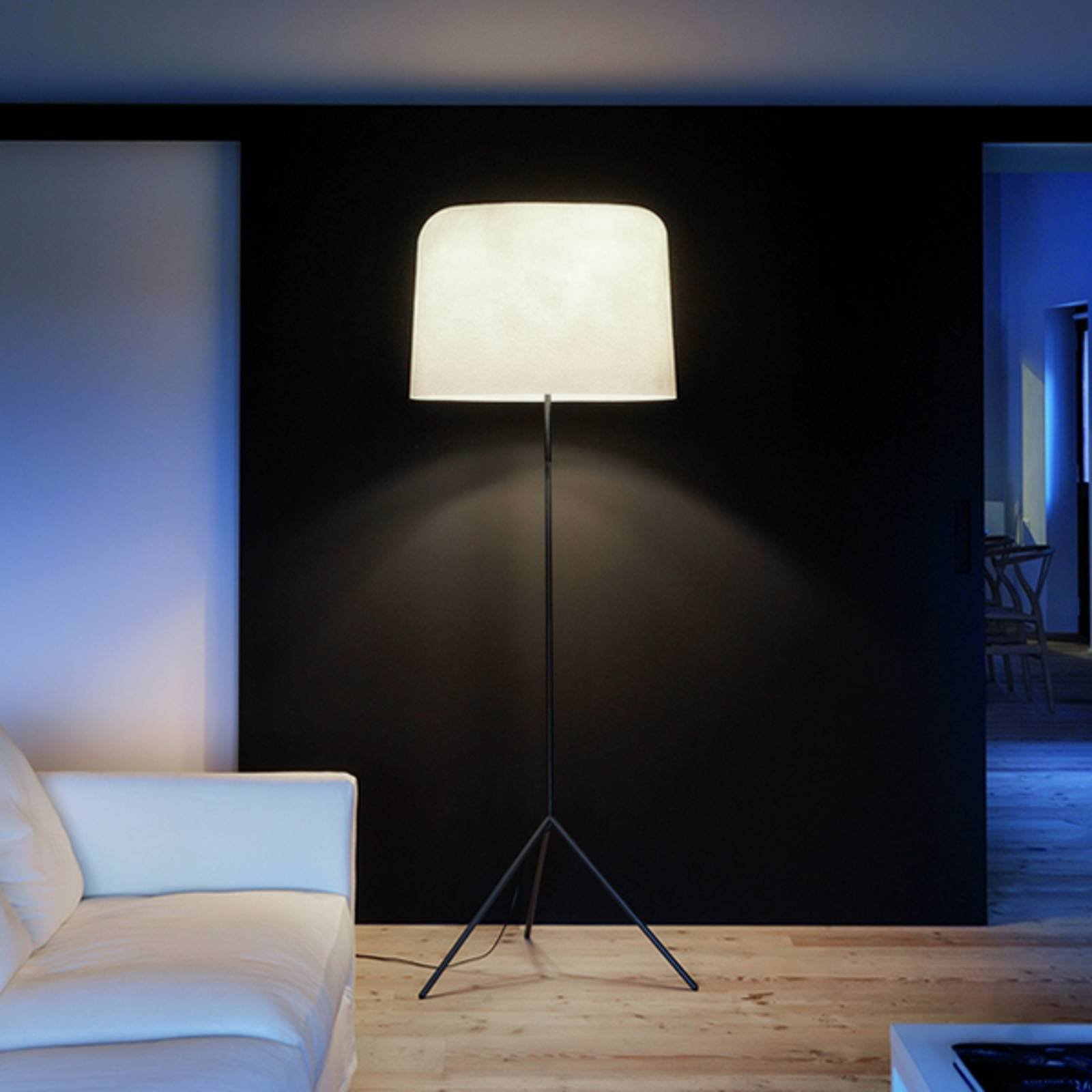 Med glassfiberskjerm - stålampe Ola hvit