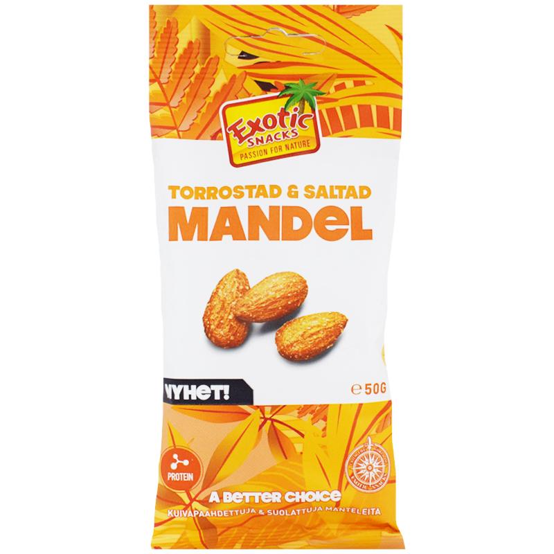 Mandlar Torrostade & Saltade 50g - 41% rabatt