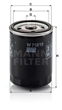 Öljynsuodatin MANN-FILTER W 713/18