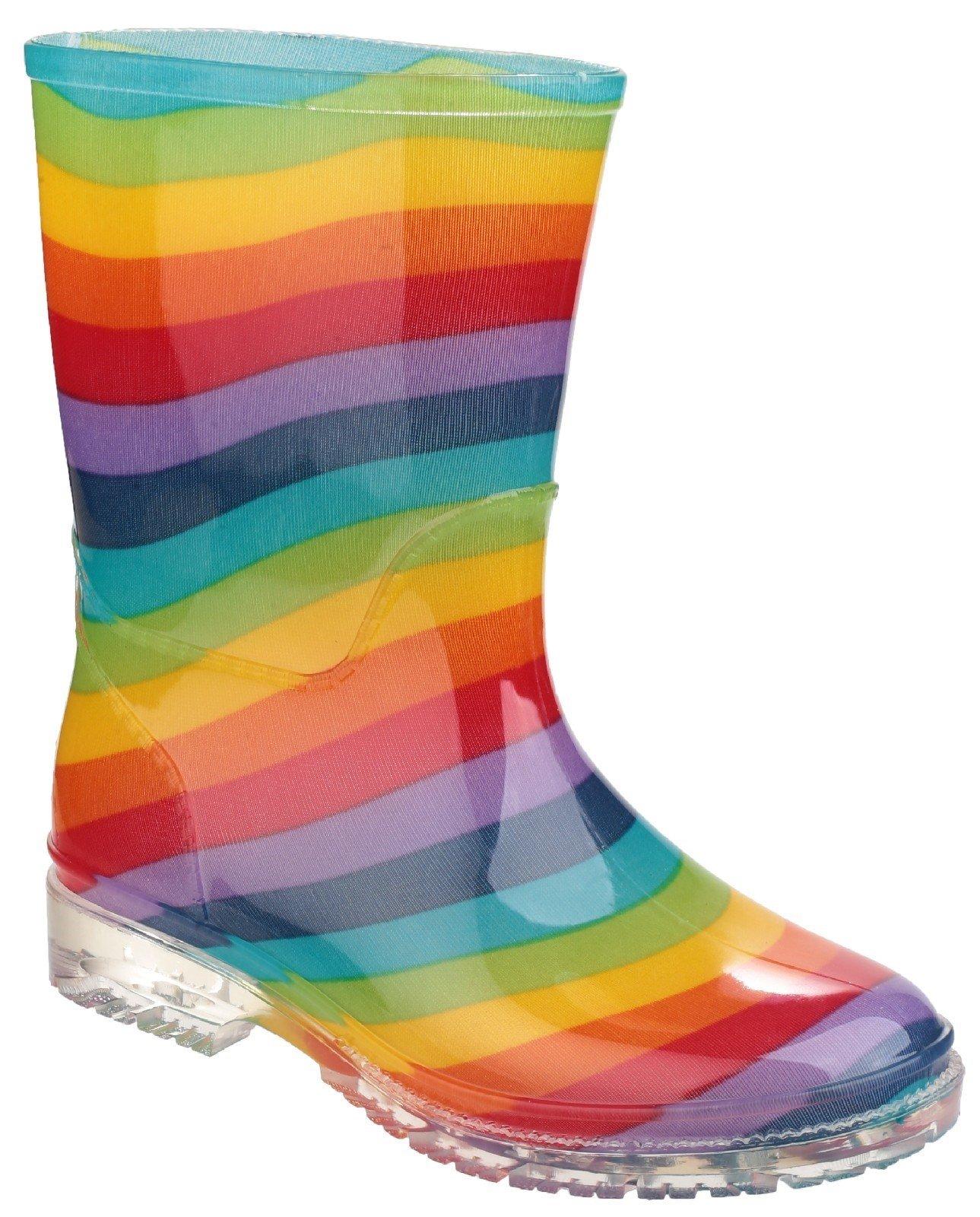 Cotswold Kid's PVC Jnr Wellington Multicolor 18853 - Rainbow 13