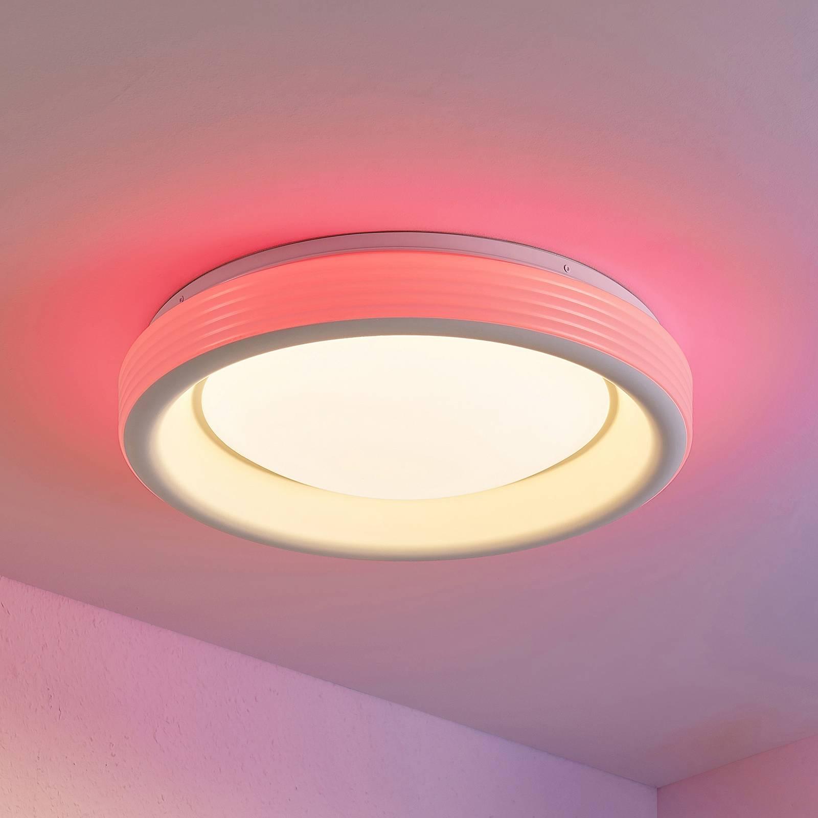 Lindby Inarum-LED-kattovalaisin RGB CCT, himmennys
