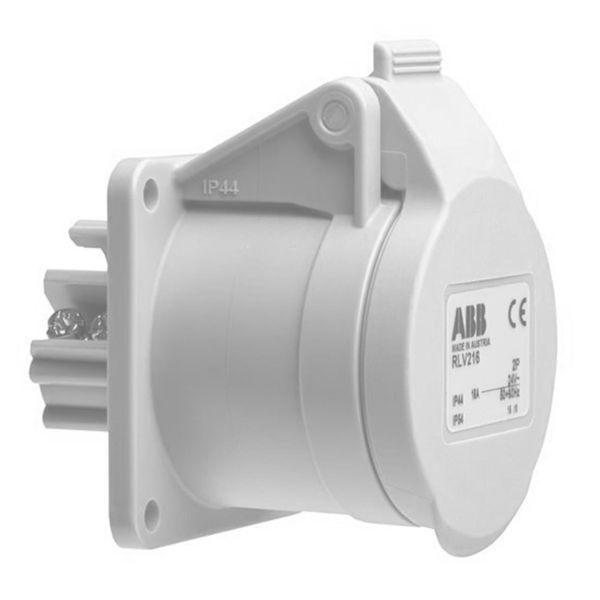 ABB 2CMA100974R1000 Seinäpistorasia 2-napainen, IP44 Valkoinen, 12 h, 55 mm