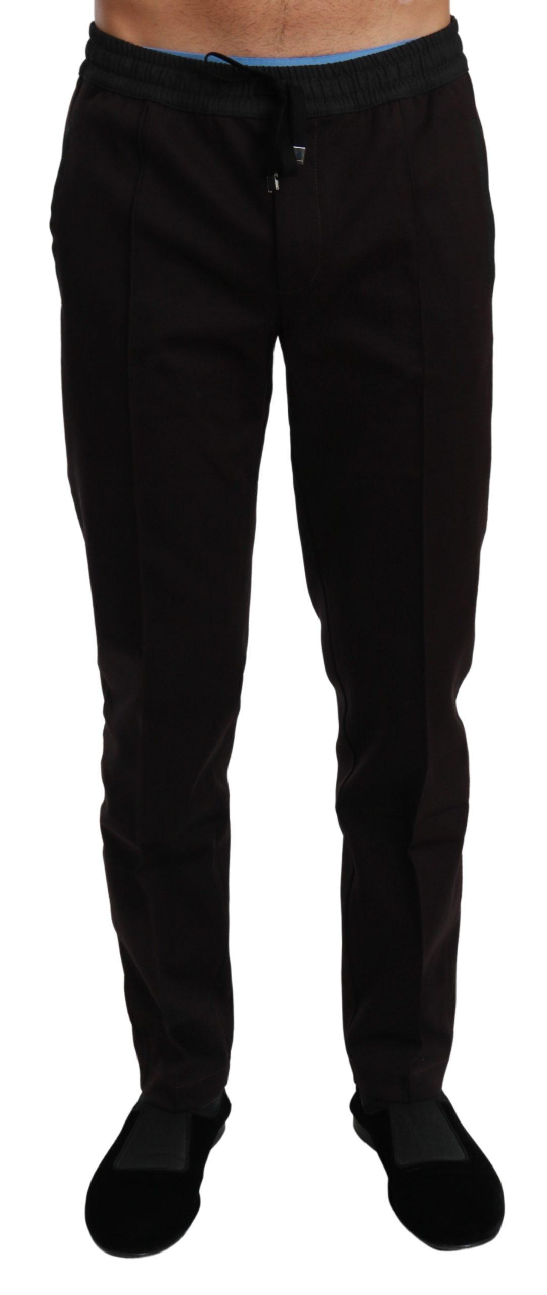 Dolce & Gabbana Men's Casual Cotton Trouser Purple PAN70978 - IT44   XS
