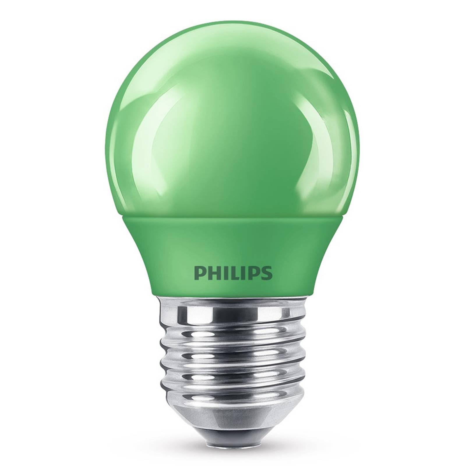 E27 P45 -LED-lamppu 3,1 W, vihreä