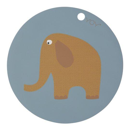 Oyoy - Tablett Mini 39 cm Elefant Turmalin