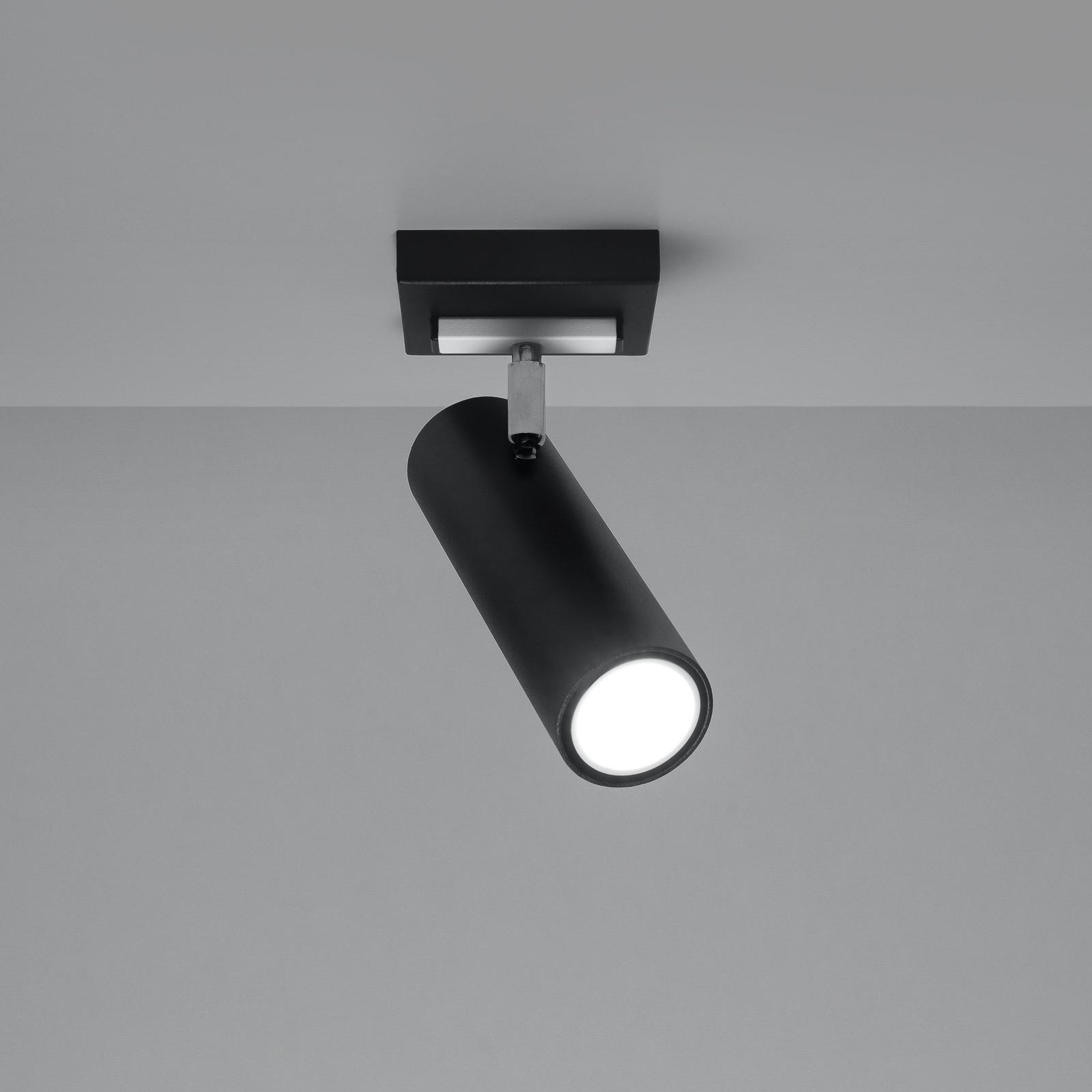 Kattospotti Spoty, musta, yksilamppuinen
