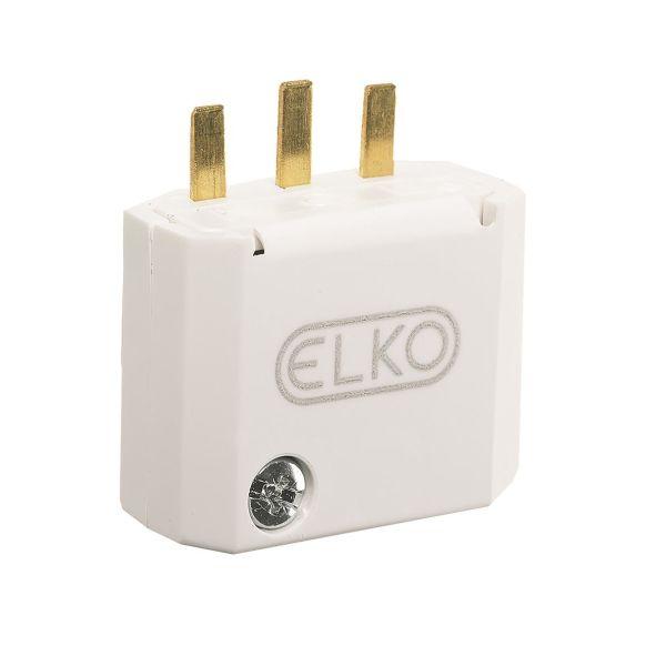 Elko EKO04970 Støpsel DCL, 2 poler, hvit