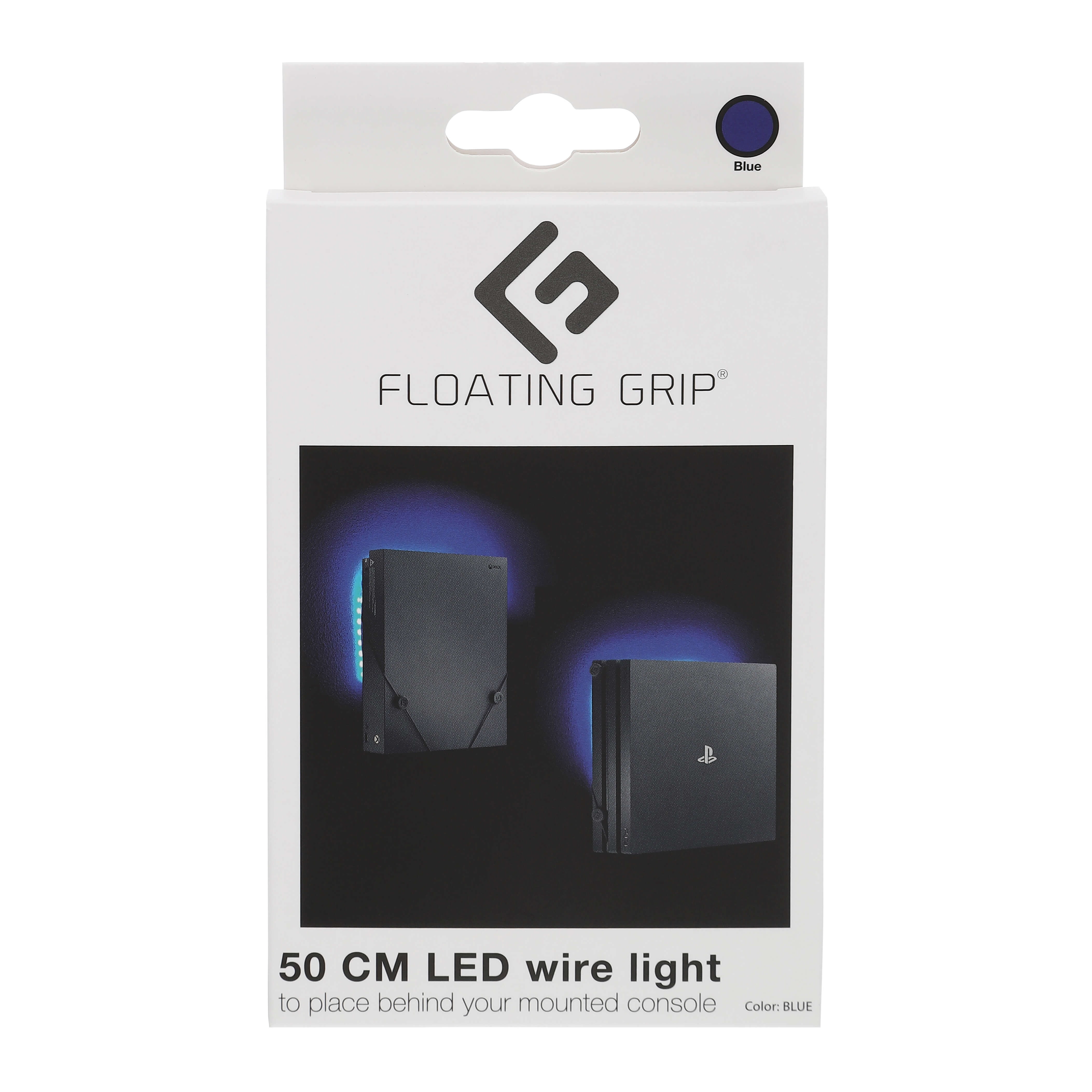 Floating Grip Led Wire Light with USB Blue