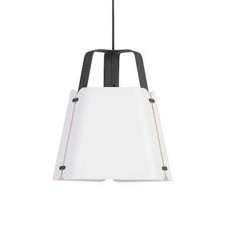 Fold Pendel Antrasitt/Hvitstruktur 34 cm