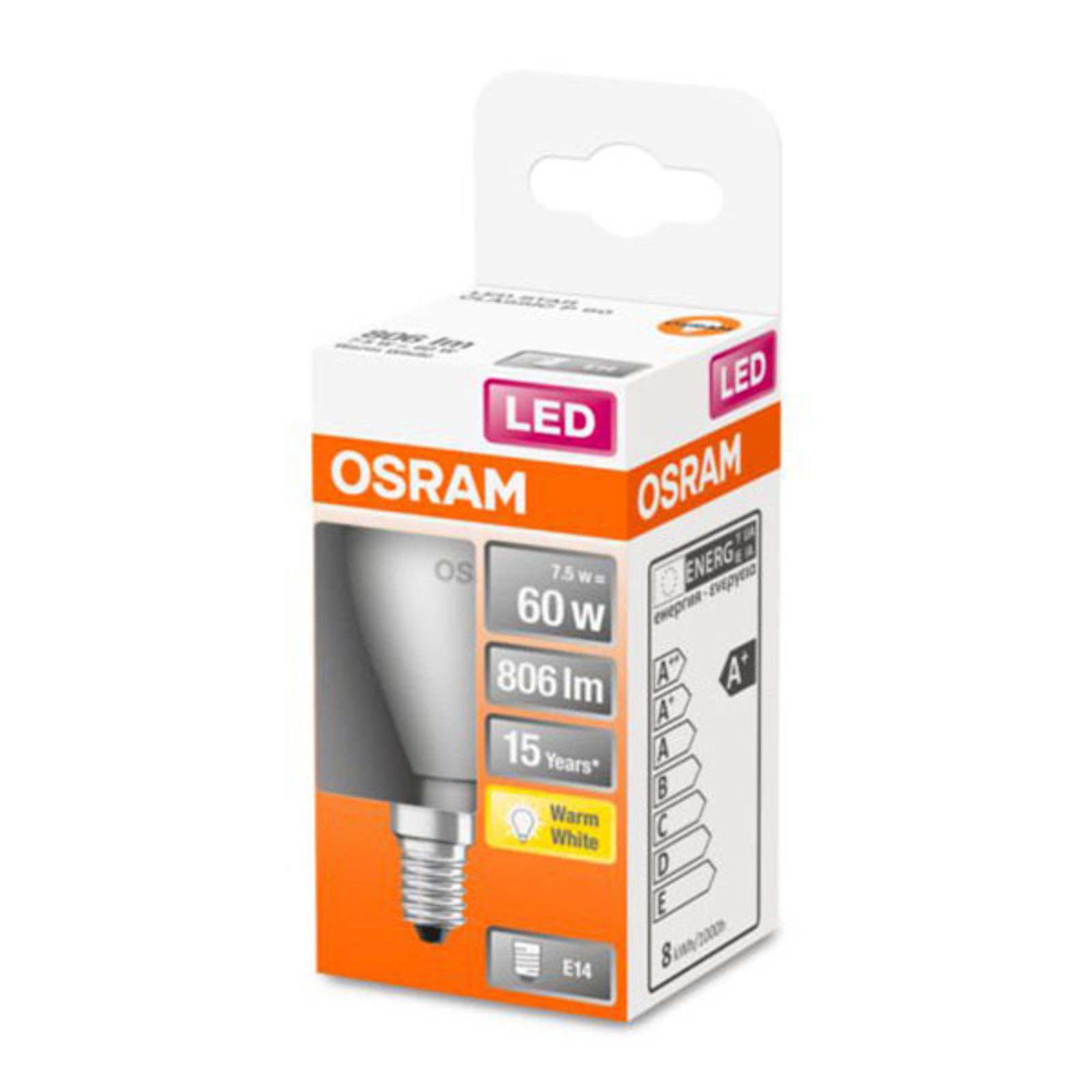 OSRAM Classic P -LED-lamppu E14 7,5W 2 700 K matta