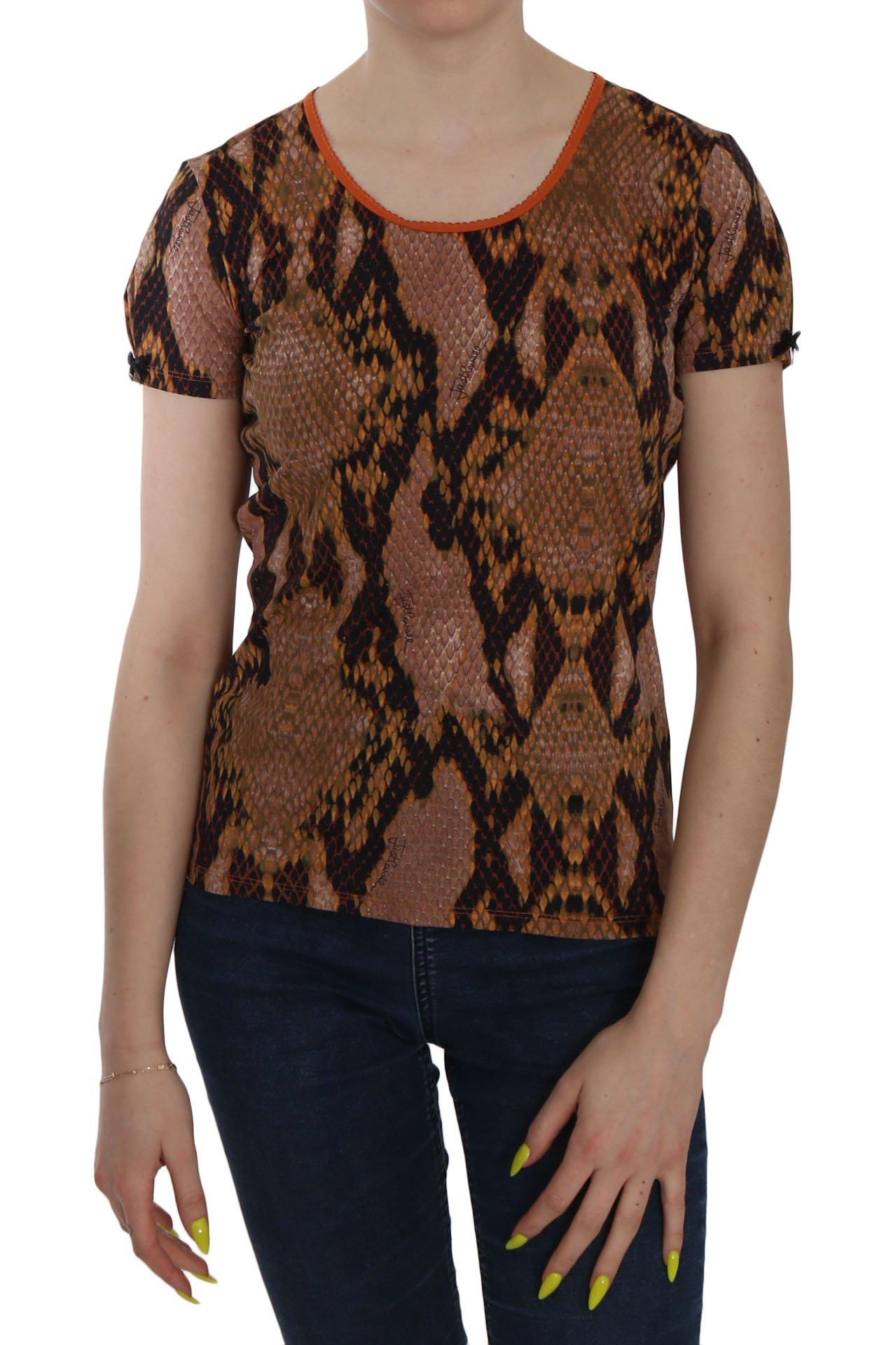 Just Cavalli Women's Snake Skin SS Top Brown TSH3765 - IT44 | M