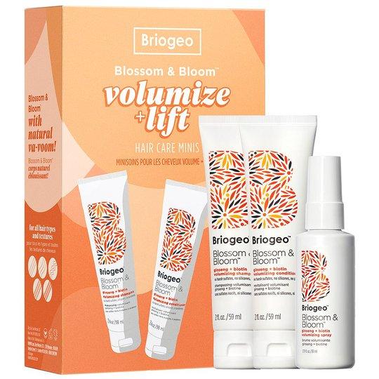 Blossom & Bloom Volumize + Thicken Minis Hair Kit, Briogeo Shampoo