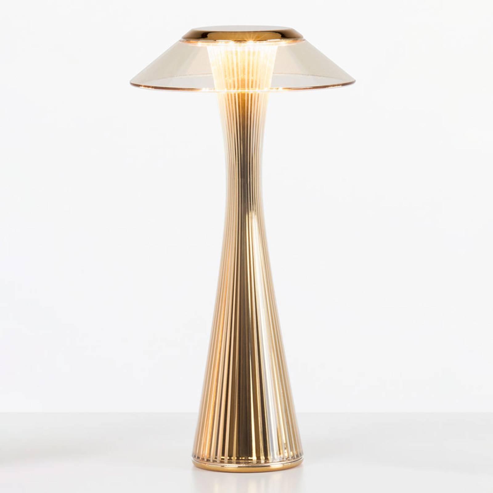 Kartell Space -design-LED-pöytälamppu, kulta