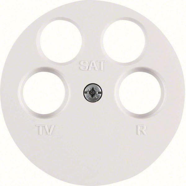 Hager 14842089 Keskiölevy R/TV/2 x SAT R.1/R.3 Maalarinvalkoinen