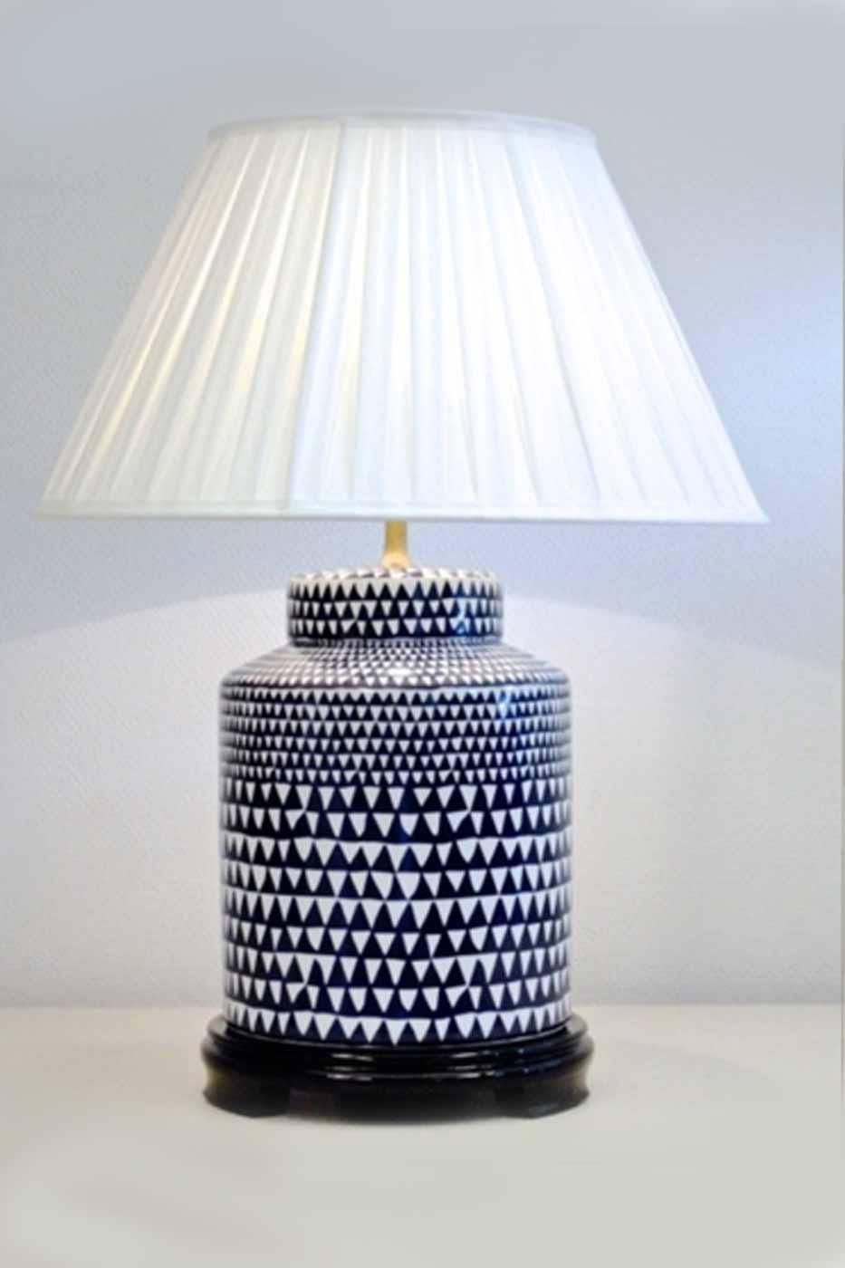 Lampfot Harlekin 40cm blå/vit