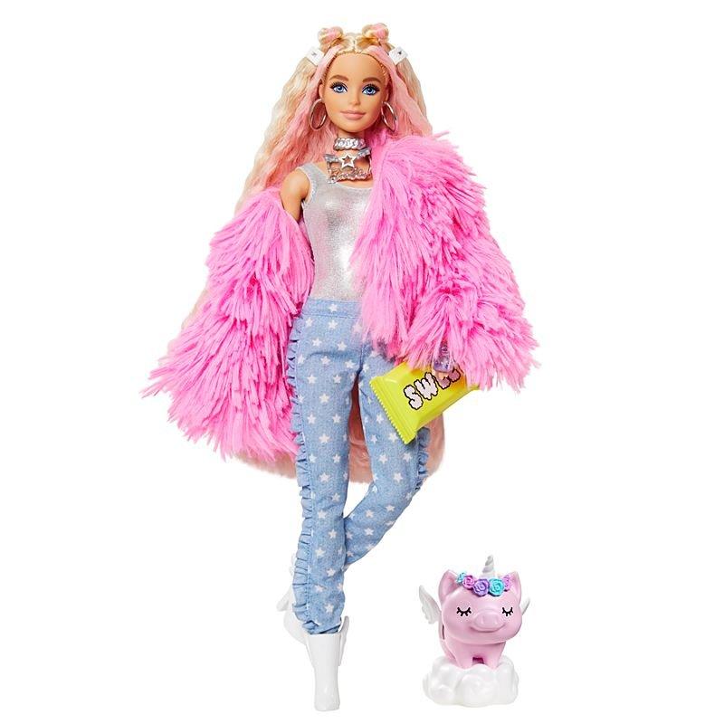 Barbie - Extra Doll - Fluffy Pink Jacket (GRN28)