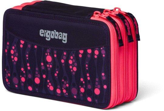 Ergobag Bearmuda Square Pennal Trippel, Lumi Purple/Pink