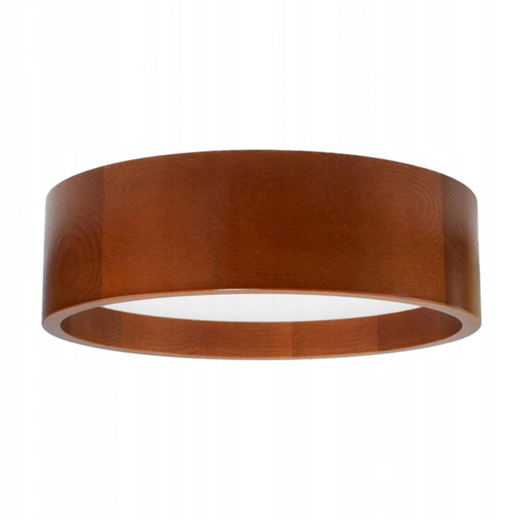 LED-taklampe Deep, Ø 38 cm, brun