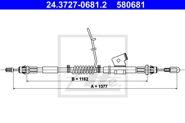 Käsijarruvaijeri ATE 24.3727-0681.2