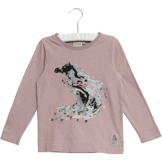 Wheat Frozen Elsa Glitter T-Skjorte, Dusty Lavender, 92