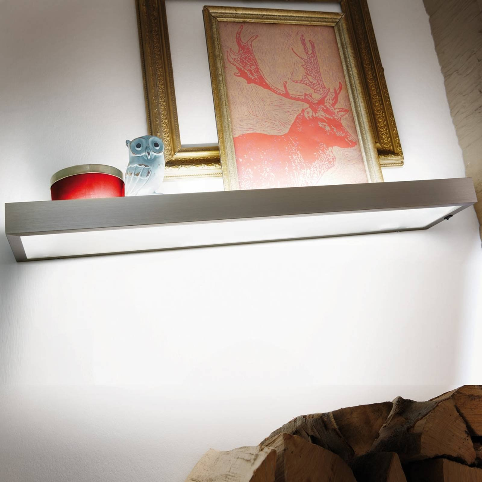 GS 2-LED dekorativt glass hyllelampe, 90 cm