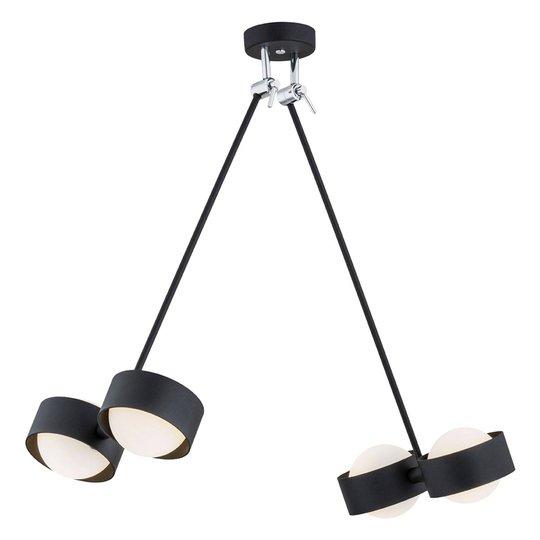 LED-vegglampe Macedo, 4 lyskilder, svart