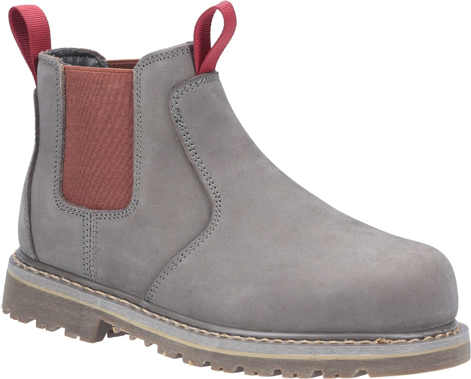 Amblers Women's Safety Sarah Slip On Safety Boot Brown 29963 - Grey 3