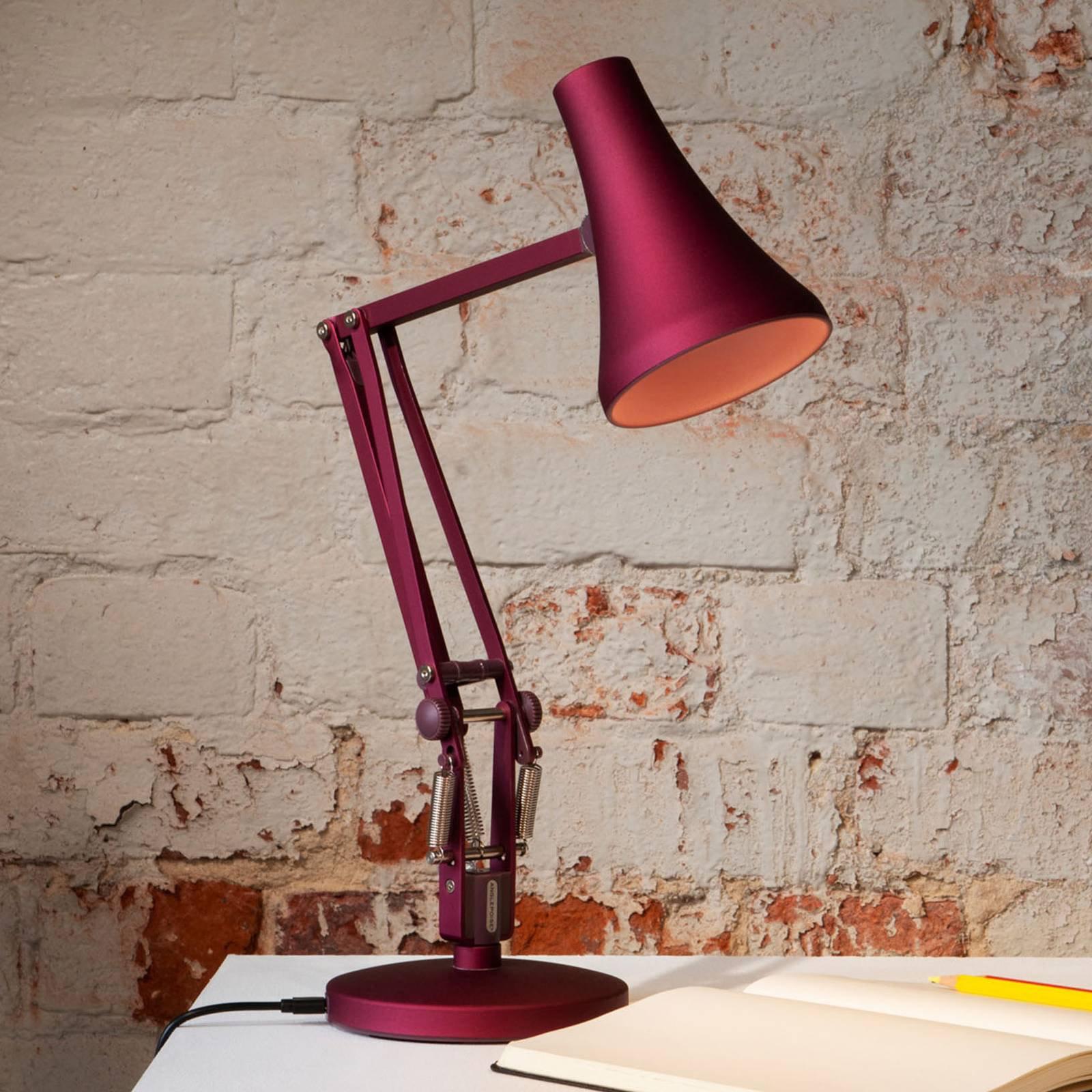 Anglepoise 90 Mini Mini LED-bordlampe bærrød