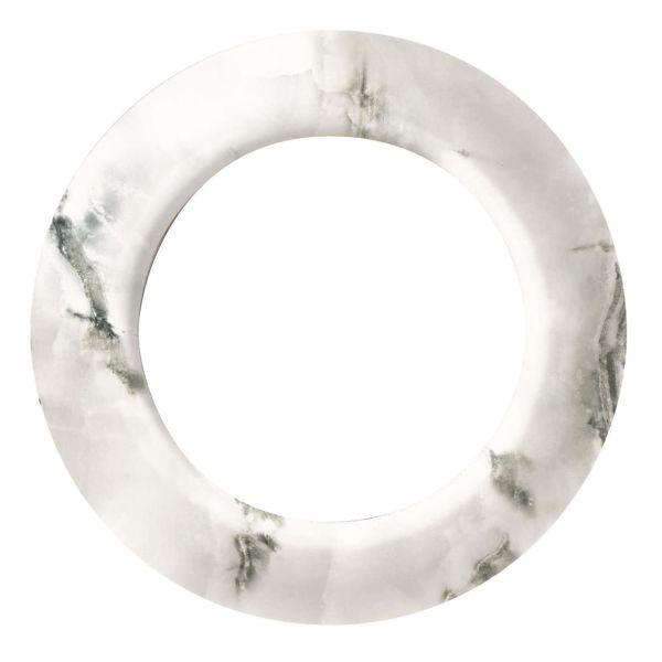 Schneider Electric Renova Peitekehys 1-paikkainen Valkoinen marmori