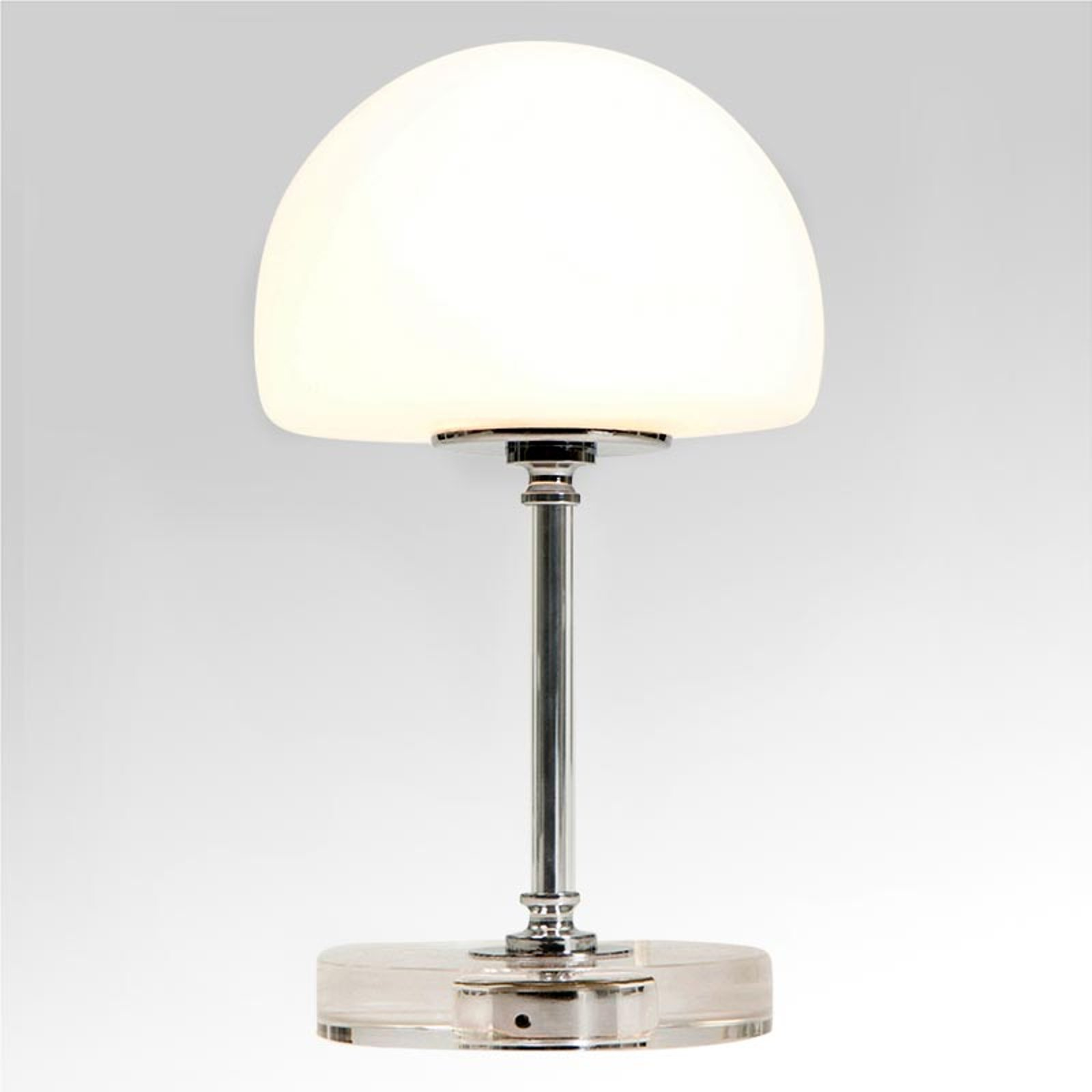 Ancilla - krom LED-bordlampe med dimmer