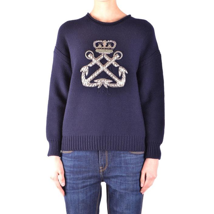 Ralph Lauren Women's Sweater Blue 161091 - blue M