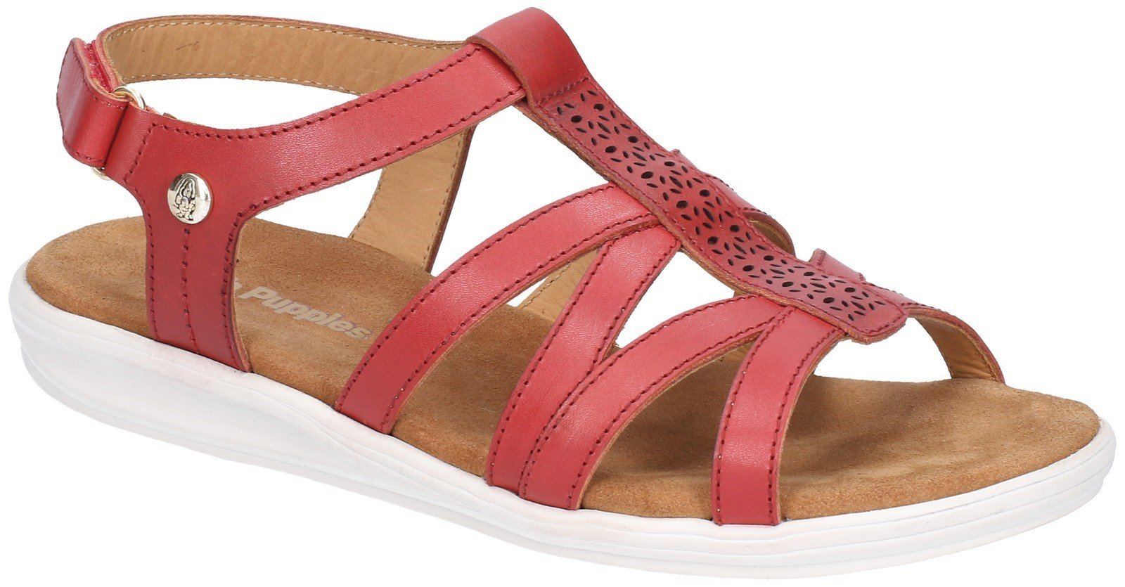 Hush Puppies Women's Callie Slingback Sandal Various Colours 28390 - Red 3