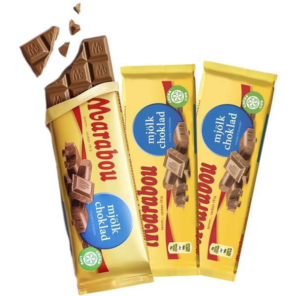 Marabou Mjölkchoklad 100g x 3 st