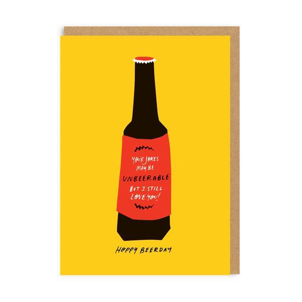 'Hoppy Beerday' Birthday Greeting Card
