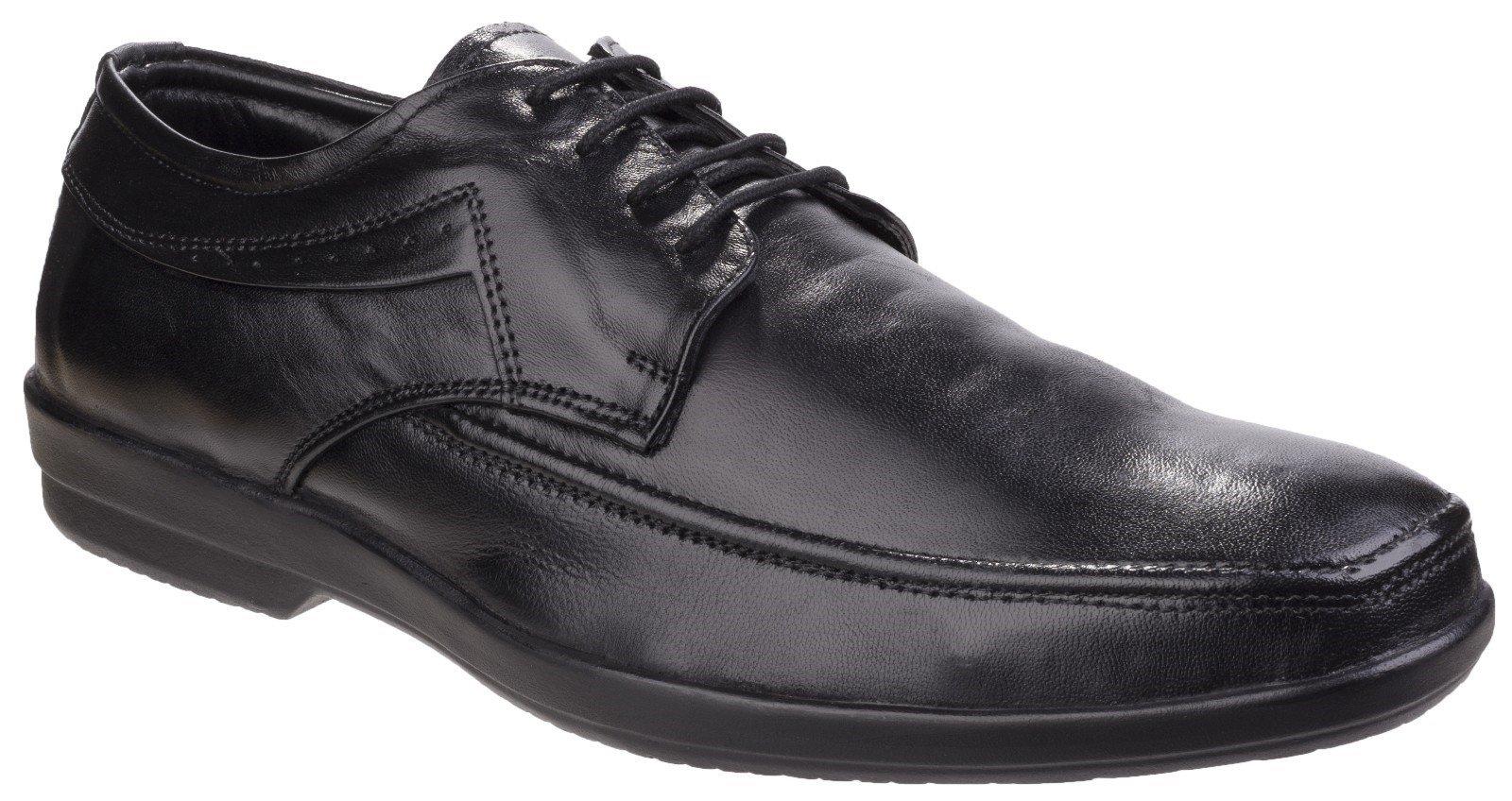 Fleet & Foster Men's Dave Apron Toe Formal Shoe Black 24951-41295 - Black 6