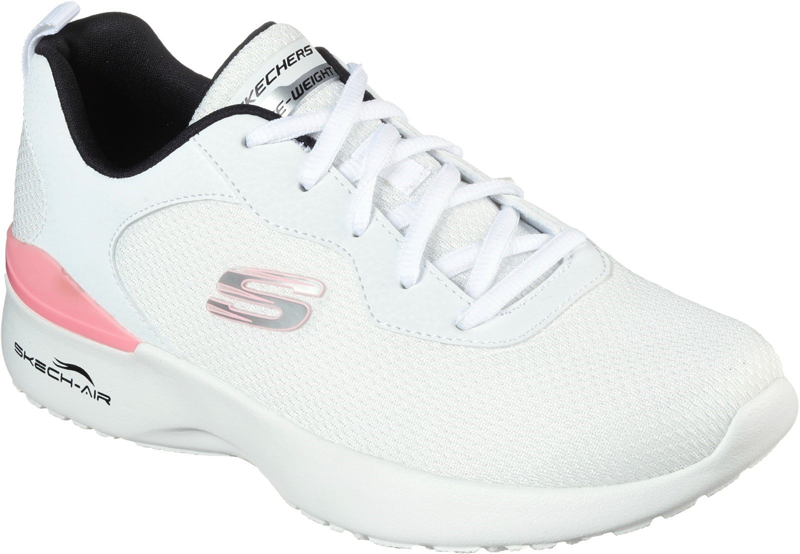 Skechers Women's Skech-Air Dynamight Sport Trainer Various Colours 32117 - White/Black/Pink 3