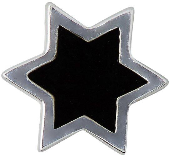 Design Letters Enamel Star Charm Silver