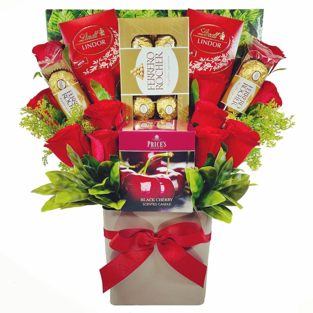 The Price's Boxed Candle Bouquet - Red