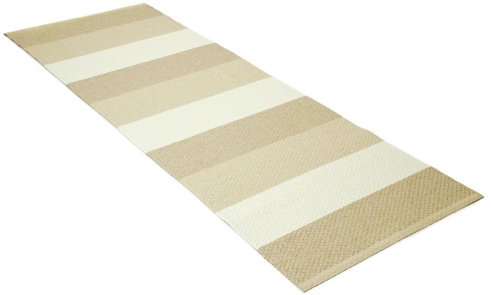 Klara beige/hvit - plastteppe