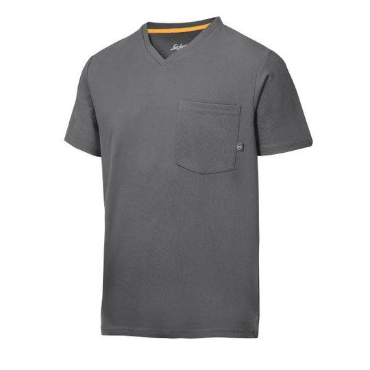 Snickers 2524 AllroundWork T-paita harmaa, v-aukko XS