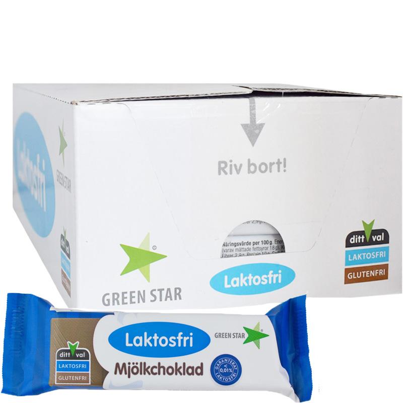 Hel Låda Mjölkchoklad Laktosfri 25 x 40g - 90% rabatt