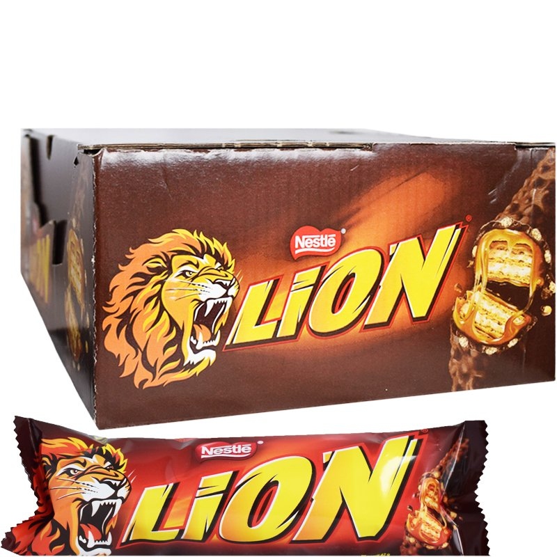 "Hel Låda Godisbars ""Lion"" 40 x 42g - 33% rabatt"