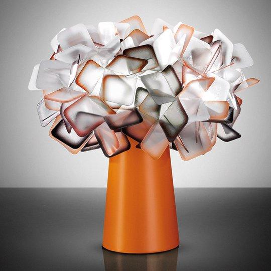 Clizia - oranssi design-pöytävalaisin