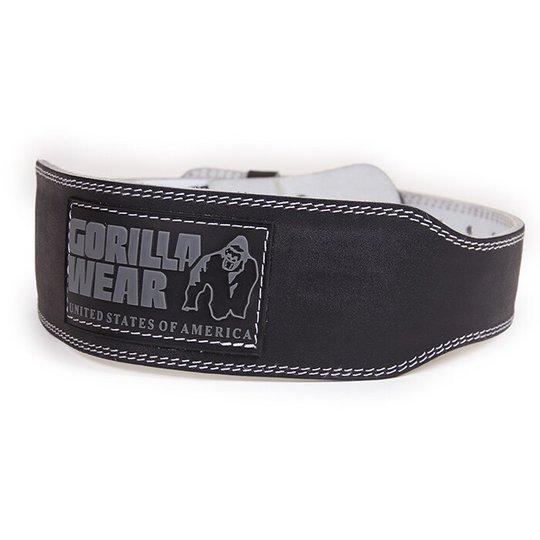 4 Inch Padded Leather Belt, black