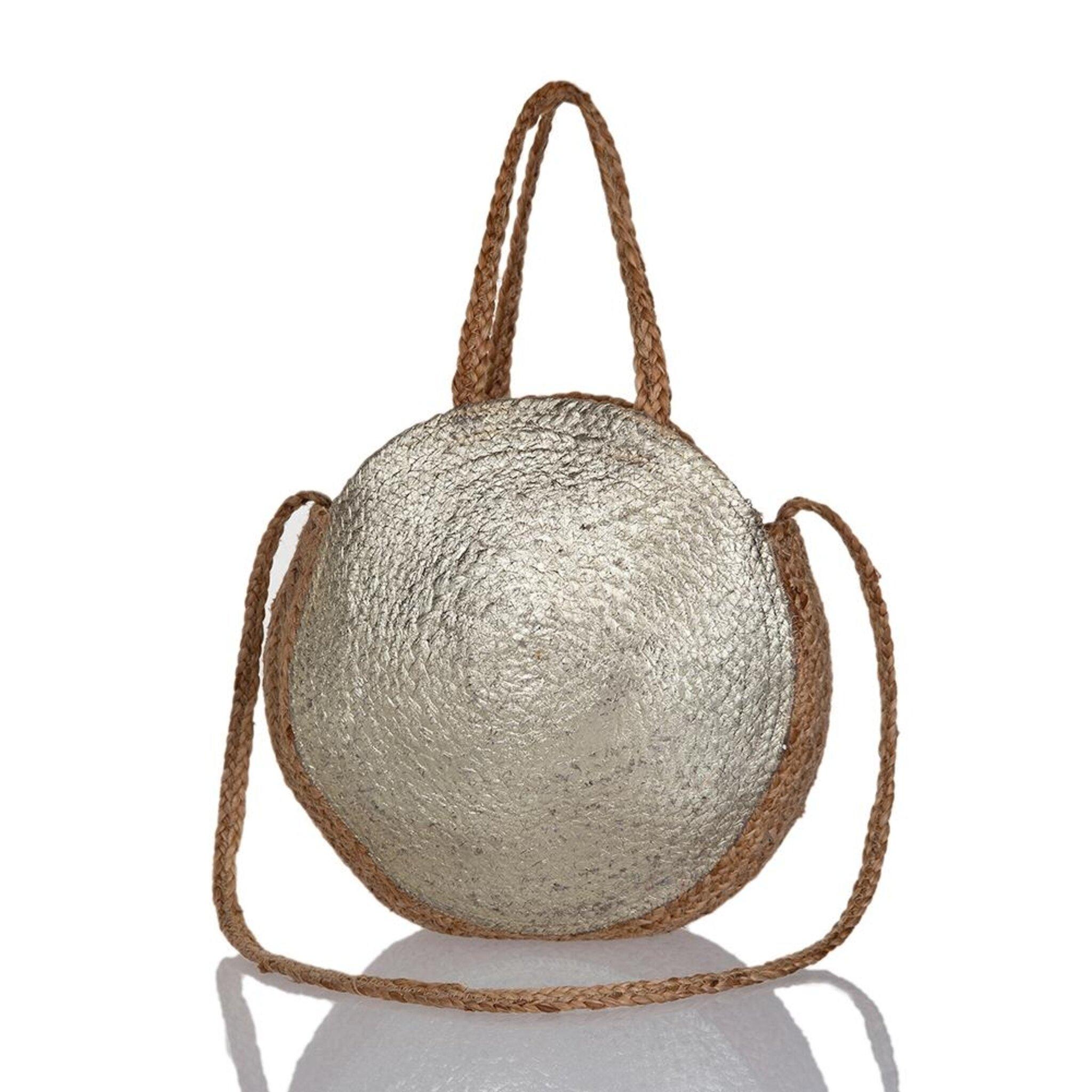 Pia Gold Bag, beige