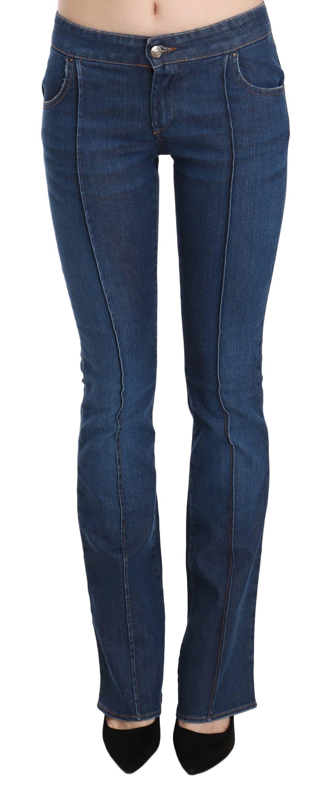 Just Cavalli Women's Low Waist Boot Cut Denim Trouser Blue PAN70363 - IT40